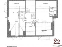 Floor plan of the second floor where sensory room will be.