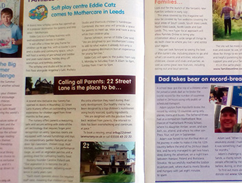 Story Featured in Families Magazine - July/August | 22 Street Lane Nursery, Leeds