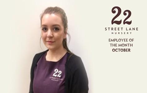 Employee of the Month Award - October | 22 Street Lane Nursery, Leeds