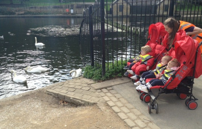 22 Street Lane Ducklings Visit Roundhay Park | 22 Street Lane Nursery, Leeds